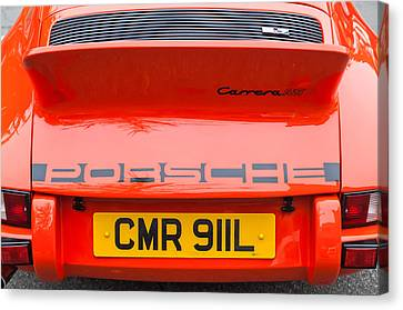 1973 Porsche 911 Carrera Rs Lightweight Rear Emblem Canvas Print by Jill Reger