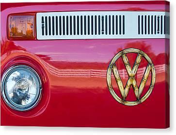 1978 Volkswagen Vw Transporter Bus Grille Emblem Canvas Print by Jill Reger
