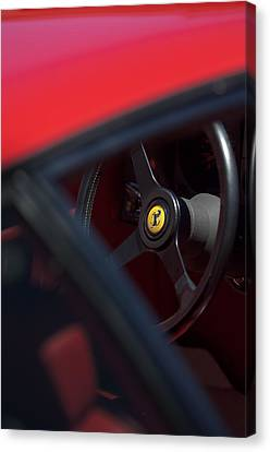 1984 Ferrari 512 Bbi Steering Wheel Emblem Canvas Print by Jill Reger