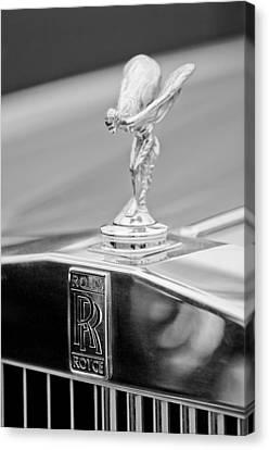 1984 Rolls-royce Silver Spur Hood Ornament Canvas Print by Jill Reger