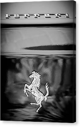 1999 Ferrari 550 Maranello Emblem -651c Canvas Print by Jill Reger
