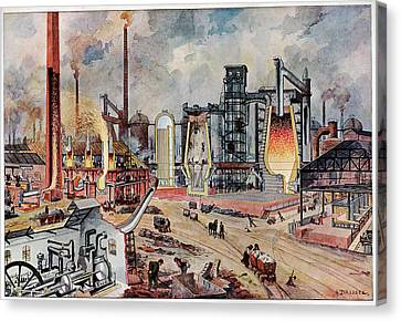 19th Century Ironworks Canvas Print by Cci Archives