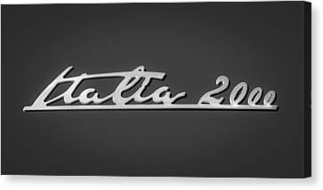 2008 Maserati Gran Turismo Emblem - Italia 2000 Emblem Canvas Print by Jill Reger