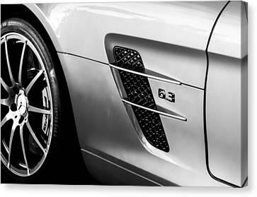 2012 Mercedes-benz Sls Gullwing Wheel Canvas Print by Jill Reger