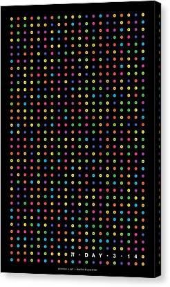 700 Digits Of Pi Canvas Print by Martin Krzywinski