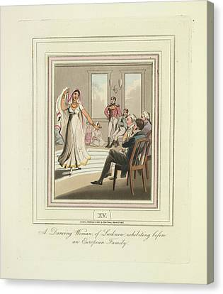 A Dancing Woman Canvas Print by British Library