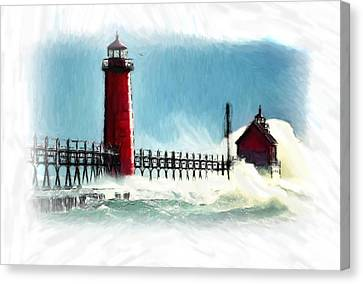A Day At The Coast Canvas Print by Steve K