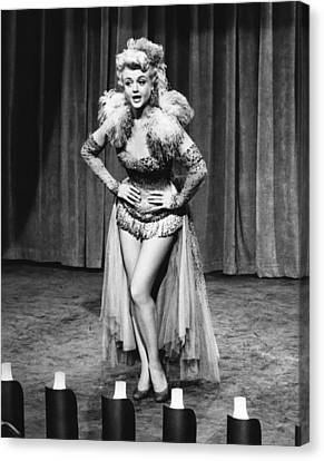 A Lawless Street, Angela Lansbury, 1955 Canvas Print by Everett