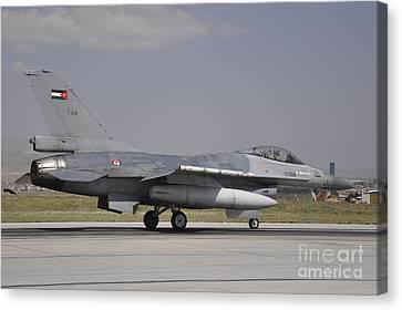 A Royal Jordanian Air Force F-16am Canvas Print by Giorgio Ciarini