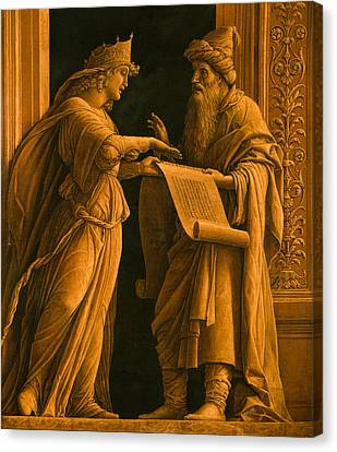 A Sibyl And A Prophet Canvas Print by Andrea Mantegna