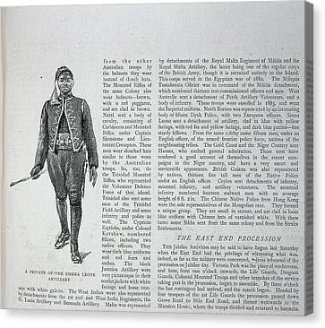 A Soldier Canvas Print by British Library