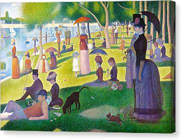 A Sunday On La Grande Jatte Canvas Print by Georges Seurat