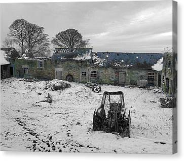 Abandoned To Nature Canvas Print by David Birchall