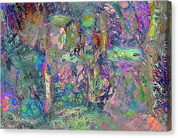 Abstract Polarised Light Micrographs Canvas Print by Steve Lowry