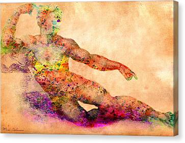 Adam Canvas Print by Mark Ashkenazi