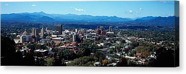 Aerial View Of A City, Asheville Canvas Print by Panoramic Images