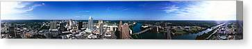 Aerial View Of A City, Austin, Travis Canvas Print by Panoramic Images