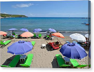 Agia Marina Beach Canvas Print by George Atsametakis
