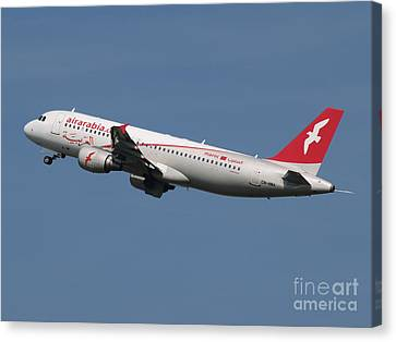 Air Arabia Maroc Airbus A320 Canvas Print by Paul Fearn