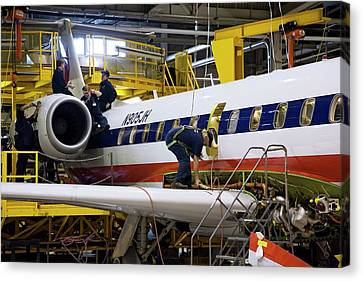 Aircraft Maintenance Canvas Print by Jim West