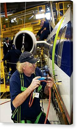 Aircraft Modification Canvas Print by Jim West