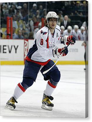 Alex Ovechkin Canvas Print by Don Olea