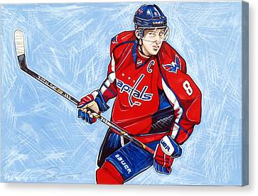 Alexander Ovechkin Canvas Print by Dave Olsen