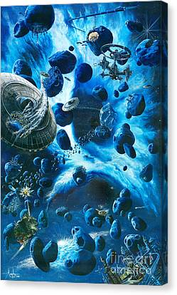 Alien Pirates  Canvas Print by Murphy Elliott