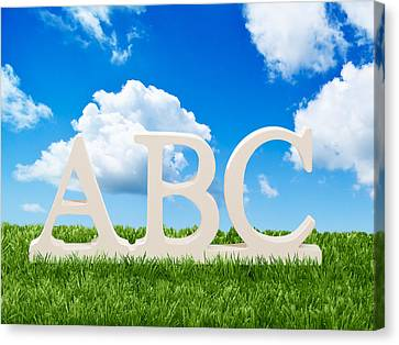 Alphabet Letters Canvas Print by Amanda And Christopher Elwell
