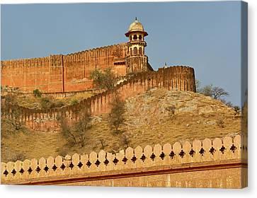 Amber Fort, Jaipur, India Canvas Print by Adam Jones