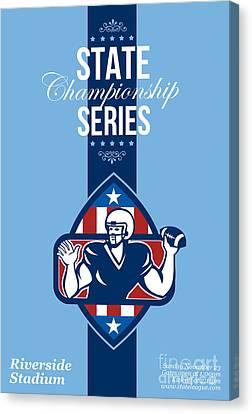 American Football State Championship Series Poster Canvas Print by Aloysius Patrimonio