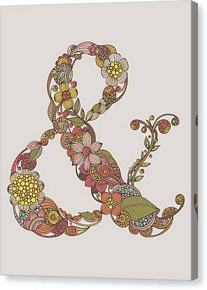 Ampersand Canvas Print by Valentina