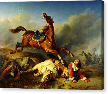 An Episode On The Field Of Battle Canvas Print by Celestial Images