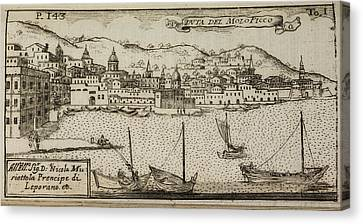 An Illustration Of 18th Century Naples Canvas Print by British Library
