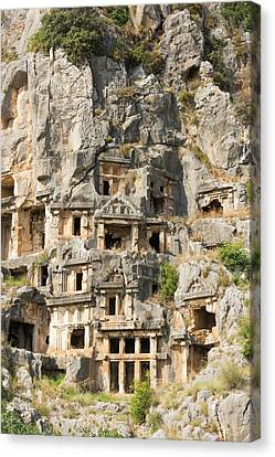 Ancient City Of Myra Canvas Print by David Parker
