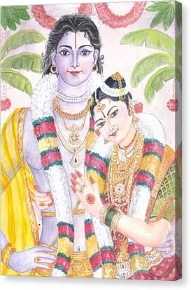 Andal Krishna Canvas Print by Parimala Devi Namasivayam