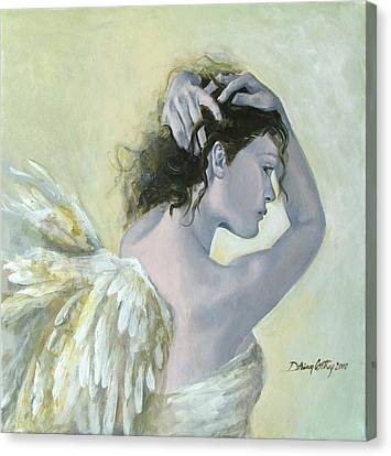 Angel    Canvas Print by Dorina  Costras