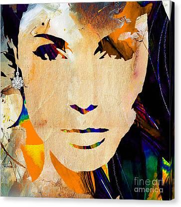 Angelina Jolie Diamond Collection Canvas Print by Marvin Blaine