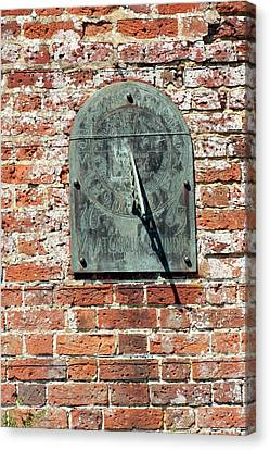 Antique Garden Sundial Canvas Print by Jon Wilson