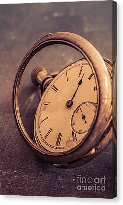 Antique Pocket Watch Canvas Print by Edward Fielding