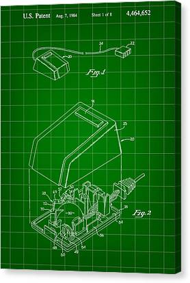 Apple Mouse Patent 1984 Canvas Print by Stephen Younts