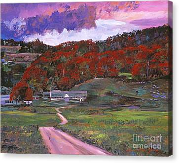 Approaching Storm Canvas Print by David Lloyd Glover