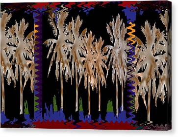Arabian Nights Dancing Trees Sparkle Reflections Of Light And Joy  Bring This Popular Dream Art To Y Canvas Print by Navin Joshi