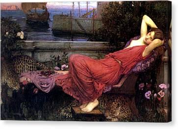 Ariadne Canvas Print by John William Waterhouse