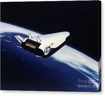 Artists Rendering Of The X-33 Reusable Canvas Print by Stocktrek Images