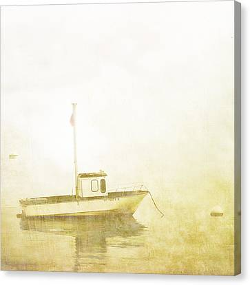 Down East Canvas Print featuring the photograph At Anchor Bar Harbor Maine by Carol Leigh