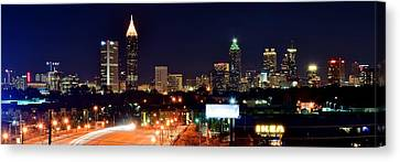 Atlanta From Above Canvas Print by Frozen in Time Fine Art Photography