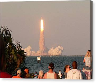Atlantis Shuttle Launch Canvas Print by David Bearden