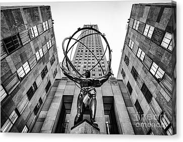Atlas At The Rock Canvas Print by John Farnan