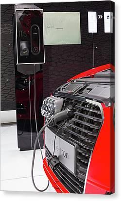 Audi A-3 E-tron Electric Car Canvas Print by Jim West
